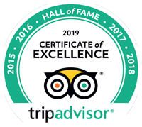 The Pizza Library Trip Advisor Certificate of Excellence 2019